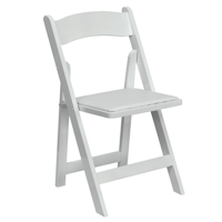Party Tyme Rentals Padded White Resin Folding Chair