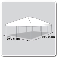 20X30 White Canopy for poway party rental at Party Tyme