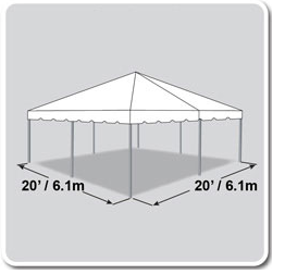 20X20 Canopy for poway party rental at Party Tyme