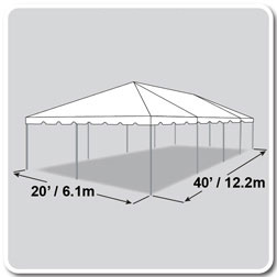 20X40 White Canopy for poway party rental at Party Tyme